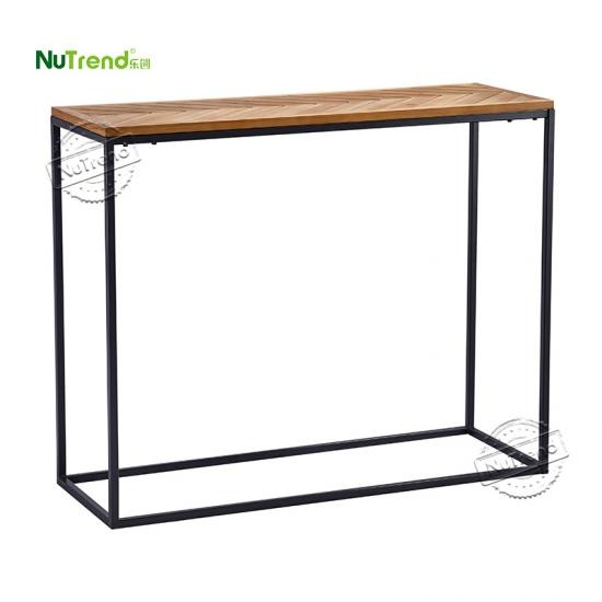 OEM Industrial Metal Frame Entryway Console Sofa Table supplier china