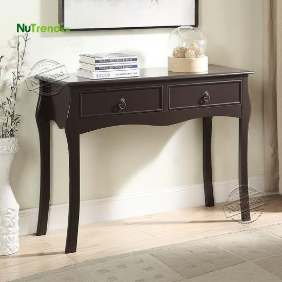 Black Wood Entrance Hall Tables furniture factory china